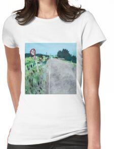 One Way Bridge - Tomarata - New Zealand Womens Fitted T-Shirt