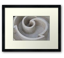 worked marble Framed Print