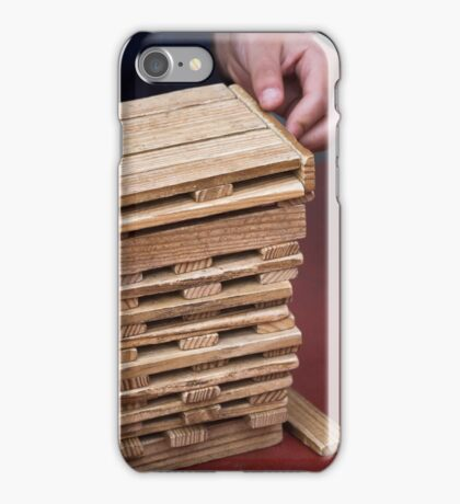 wooden toys for children iPhone Case/Skin