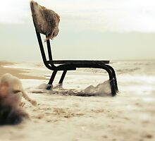 Chair at the sea by kitaro