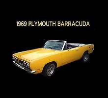 1969 PLYMOUTH BARRACUDA CONVERTIBLE -  PILLOW AND OR TOTE BAG by ✿✿ Bonita ✿✿ ђєℓℓσ