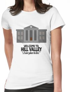 Welcome to Hill Valley Womens Fitted T-Shirt