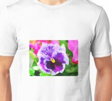 Purple Pansy Unisex T-Shirt