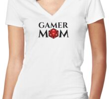 D20 - Gamer Mom Women's Fitted V-Neck T-Shirt