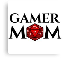 D20 - Gamer Mom Canvas Print