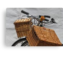 bicycle whit baskets Canvas Print