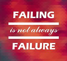 Failing is not always failure by asanchezba