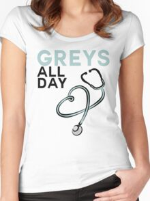 GREY'S ALL DAY - GREY'S ANATOMY Women's Fitted Scoop T-Shirt