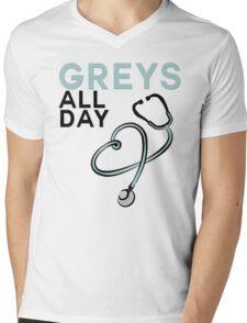 GREY'S ALL DAY - GREY'S ANATOMY Mens V-Neck T-Shirt