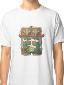 Steampunk dirigible pilot with goggles and hat, leather jacket Classic T-Shirt