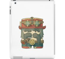 Steampunk dirigible pilot with goggles and hat, leather jacket iPad Case/Skin