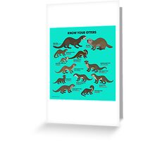 Know Your Otters Greeting Card