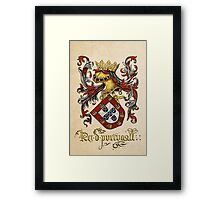 Arms of King of Portugal - Livro do Armeiro-Mor Framed Print