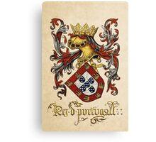 Arms of King of Portugal - Livro do Armeiro-Mor Canvas Print
