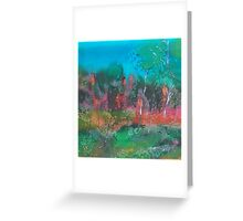 The mysticism of Hanging Rock VIC Australia on silk Greeting Card