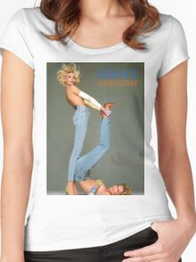 Retro Versace Jeans Poster Women's Fitted Scoop T-Shirt