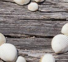 Sea shell heart Sticker