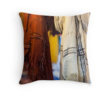 scarves to the market Throw Pillow