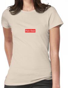 Fixie Goon Box Logo  Womens Fitted T-Shirt