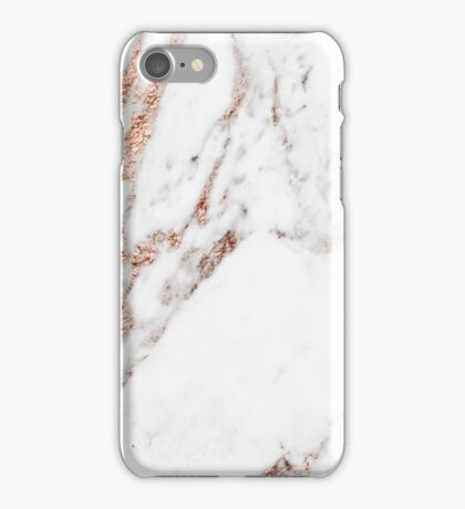 Rose gold vein marble iPhone Case/Skin