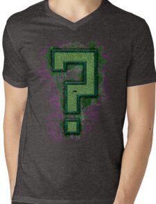 Riddler's Questionable Maze Mens V-Neck T-Shirt
