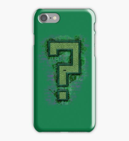 Riddler's Questionable Maze iPhone Case/Skin