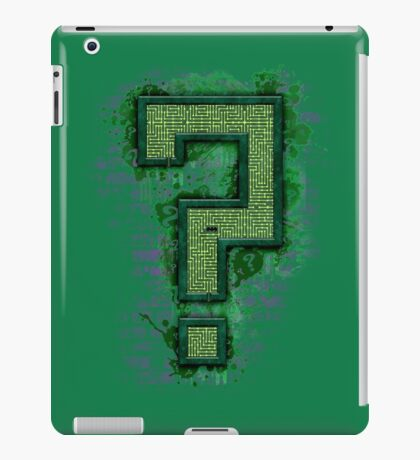 Riddler's Questionable Maze iPad Case/Skin
