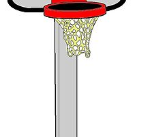 Toy Basketball Hoop by kwg2200