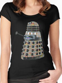 Hippie Hippy Love and Peace Dalek Women's Fitted Scoop T-Shirt