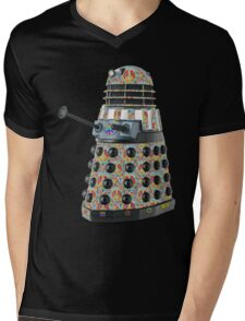 Hippie Hippy Love and Peace Dalek Mens V-Neck T-Shirt