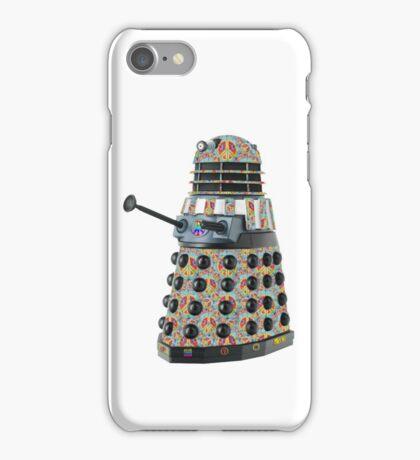 Hippie Hippy Love and Peace Dalek iPhone Case/Skin