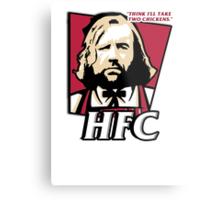 The hound fried chicken (HFC) - Kentucky parody.  Metal Print
