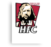 The hound fried chicken (HFC) - Kentucky parody.  Canvas Print