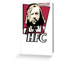 The hound fried chicken (HFC) - Kentucky parody.  Greeting Card