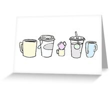 Cups pen drawing Greeting Card