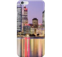 Perth skyline at dusk iPhone Case/Skin