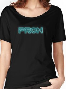 PRON. (Tron parody) Women's Relaxed Fit T-Shirt