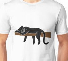 Panther Sleeping Unisex T-Shirt