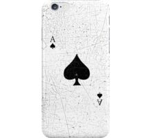 Vintage Look Ace of Spades Playing Card Graphic iPhone Case/Skin