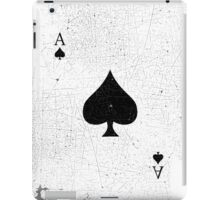 Vintage Look Ace of Spades Playing Card Graphic iPad Case/Skin