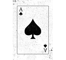 Vintage Look Ace of Spades Playing Card Graphic Photographic Print