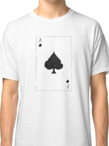 Vintage Look Ace of Spades Playing Card Graphic Classic T-Shirt
