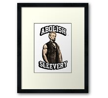 Abraham Lincoln - Abolish Sleevery Framed Print