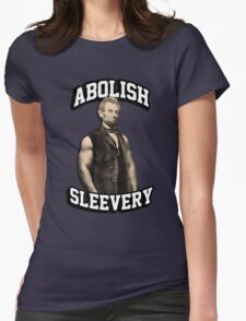 Abraham Lincoln - Abolish Sleevery Womens Fitted T-Shirt