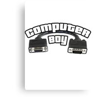 Computer Boy Canvas Print