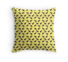 E is for Eggplant Throw Pillow
