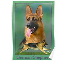 German Shepherd Breed Art With NamePlate Poster