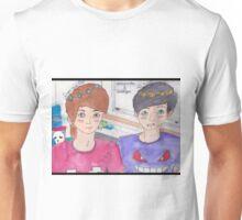 Dan and Phil Flower Crown Tumblr Video Fanart Unisex T-Shirt