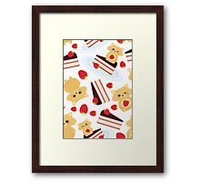 Cute Hamsters with Cakes Framed Print