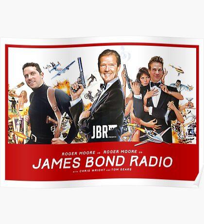 Roger Moore on James Bond Radio - Retro Movie Poster Poster